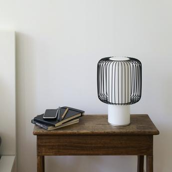 Lampe a poser line noir h30cm o19 5cm teo normal