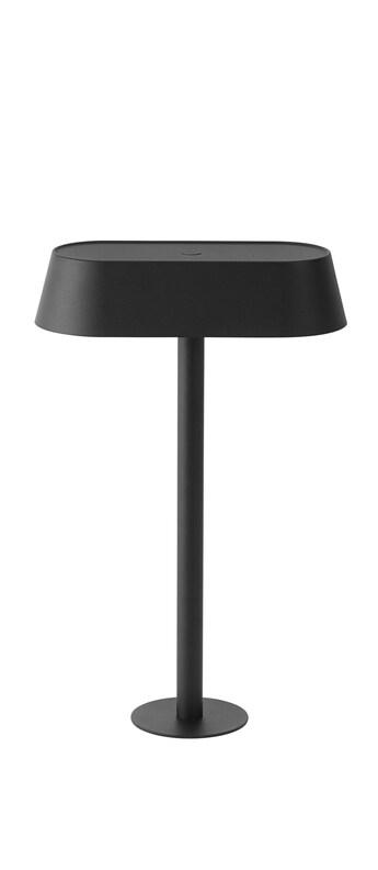 Lampe a poser linear mounted noir led 3000k 242lm l23 2cm h36 5cm muuto normal