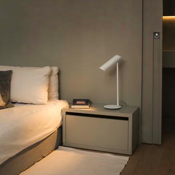 Lampe a poser link blanc led h46cm o15cm faro normal