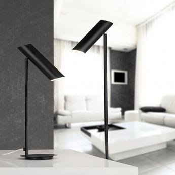 Lampe a poser link noir led h46cm o15cm faro normal