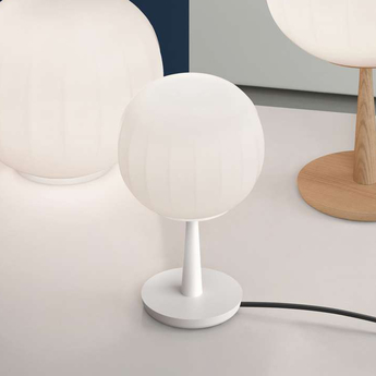 Lampe a poser lita blanc o12cm h28cm luceplan normal