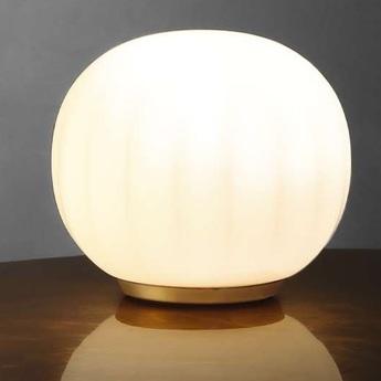 Lampe a poser lita blanc opale o14cm h13cm luceplan normal