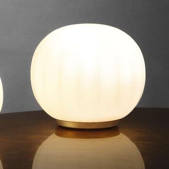 Lampe a poser lita blanc opale o18cm h16cm luceplan normal