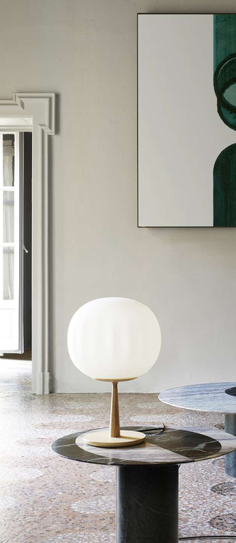 Lampe a poser lita bois blanc o20cm h46cm luceplan normal