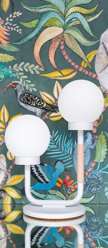 Lampe a poser little darling blanc l35cm h47cm swedish ninja normal