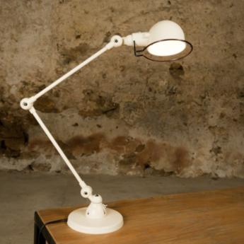 Lampe a poser loft 2 bras blanc o24 5cm h80cm jielde normal