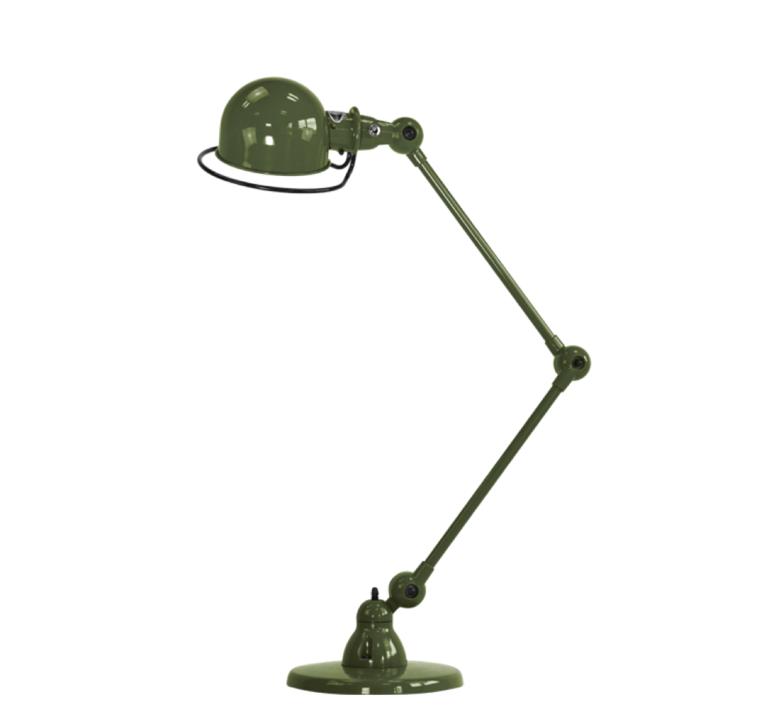 Loft 2 bras jean louis domecq lampe a poser table lamp  jielde d6440 ral6003  design signed 35972 product