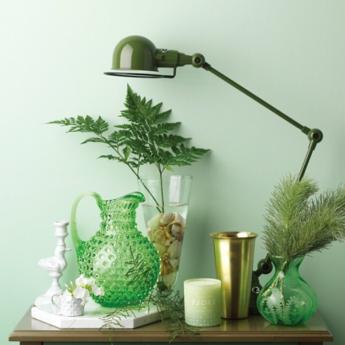 Lampe a poser loft 2 bras vert olive o24 5cm h80cm jielde normal