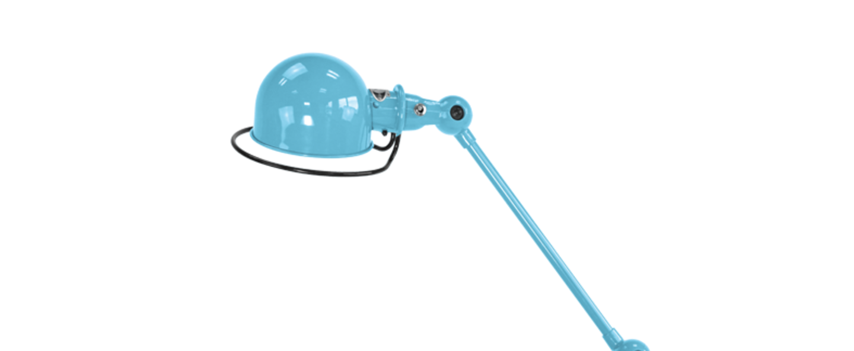 Lampe a poser loft bleu pastel l80cm h60cm jielde normal