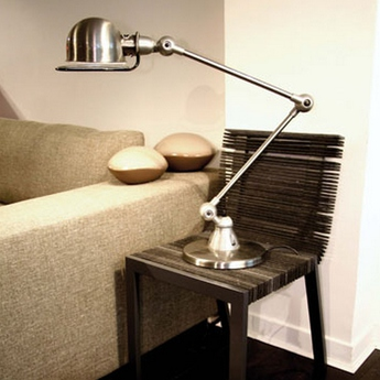 Lampe a poser loft chrome l80cm h60cm jielde normal