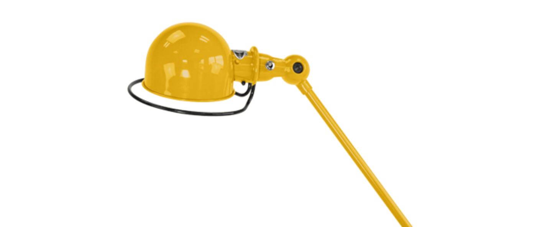 Lampe a poser loft moutarde l80cm h60cm jielde normal