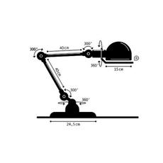 Loft  lampe a poser table lamp  jielde loft d6440x ral 1003  design signed 54490 thumb