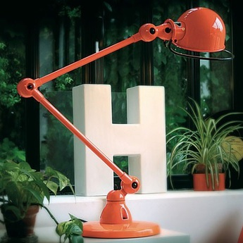Lampe a poser loft orange l80cm h60cm jielde normal