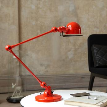 Lampe a poser loft rouge l80cm h60cm jielde normal