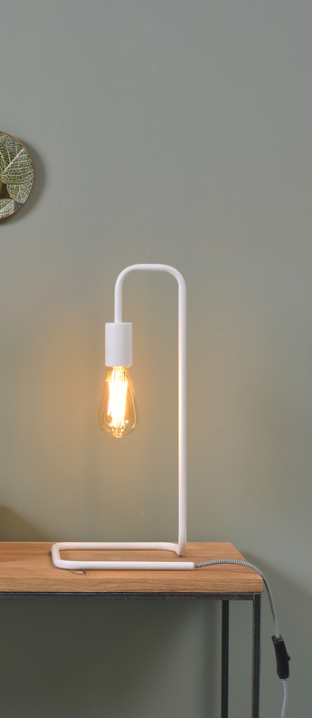 Lampe a poser london blanc l20cm h45 5cm it s about romi normal