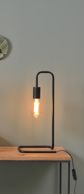 Lampe a poser london noir l20cm h45 5cm it s about romi normal