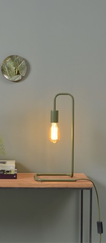Lampe a poser london vert olive l20cm h45 5cm it s about romi normal