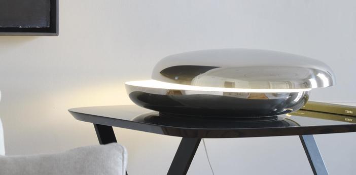 Lampe a poser loop acier inoxydable o50cm fontana arte normal