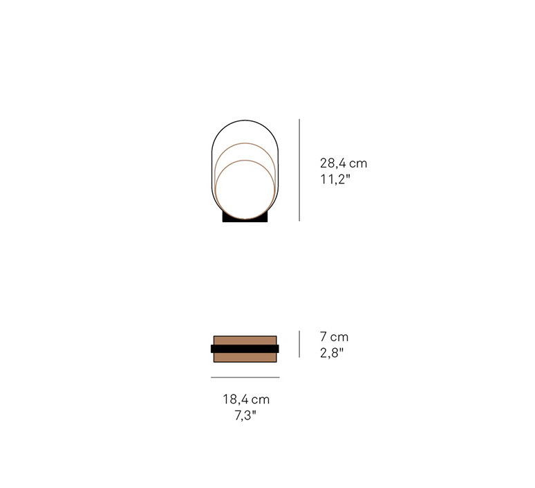 Loop m mut design lampe a poser table lamp  lzf loop m gd 21 led dim  design signed nedgis 76059 product