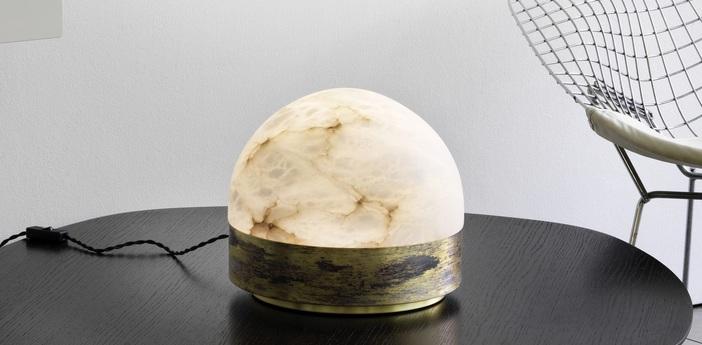 Lampe a poser lucid 200 laiton o20cm h18cm cto lighting normal