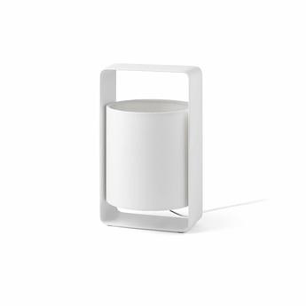 Lampe a poser lula blanc h27cm faro normal