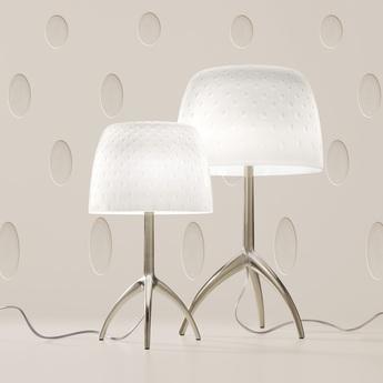 Lampe a poser lumiere grande 30th bulles dimmer blanc or o26cm h45cm foscarini normal