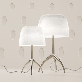 Lampe a poser lumiere grande 30th bulles on off blanc or o26cm h45cm foscarini normal