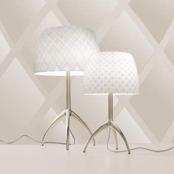 Lampe a poser lumiere grande 30th pastilles dimmer blanc or o26cm h45cm foscarini normal