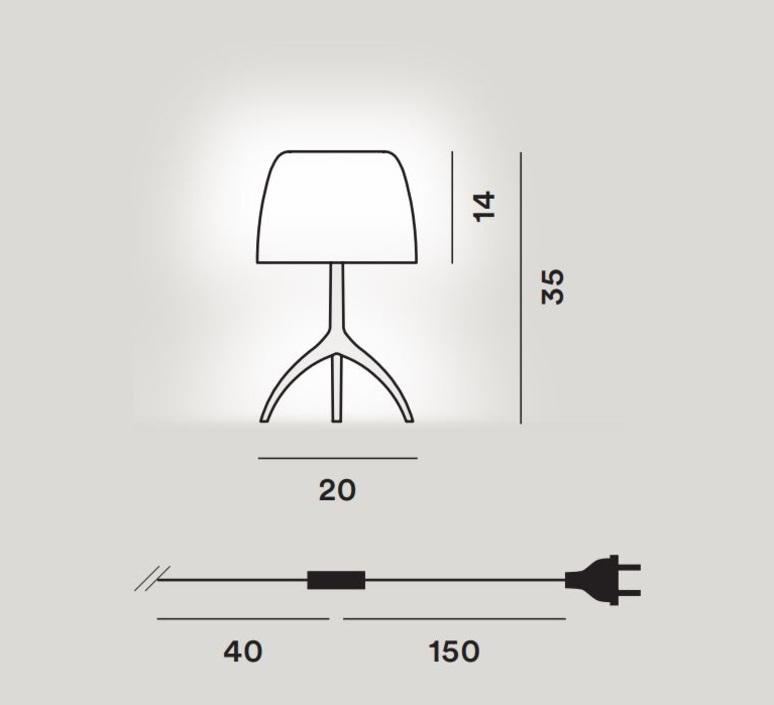 Lumiere piccola 30th bulles dimmer rodolfo dordoni lampe a poser table lamp  foscarini 0260212f213d  design signed nedgis 92454 product