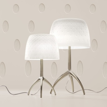 Lampe a poser lumiere piccola 30th bulles on off blanc or o20cm h35cm foscarini normal