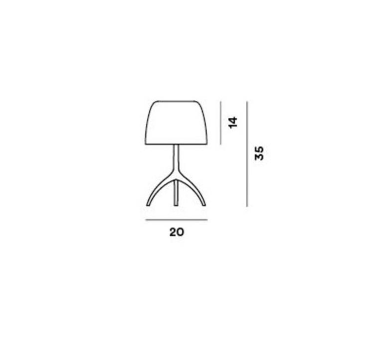 Lumiere piccola rodolfo dordini lampe a poser table lamp  foscarini 0260012r262  design signed nedgis 85280 product
