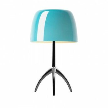 Lampe a poser lumiere piccola turquoise o20cm h35cm foscarini normal