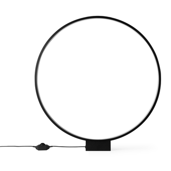 Lampe a poser luminous circle table lamp black noir led 3500k 130lm o60cm h5 5cm hk living normal