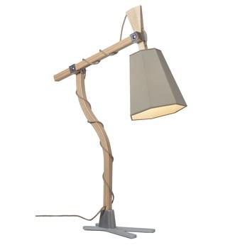 Lampe a poser luxiole kaki blanc h98cm designheure normal