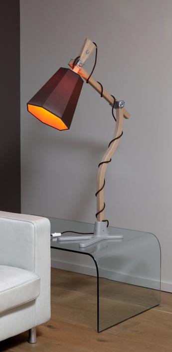 Lampe a poser luxiole marron orange h98cm designheure normal