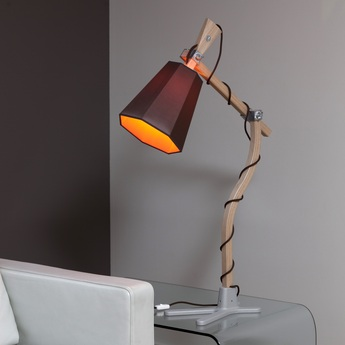 Lampe a poser luxiole marron orange h98cm designheure normal