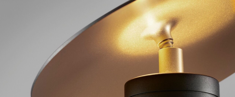 Lampe a poser madison t1 noir et or led o25cm h25cm light point normal
