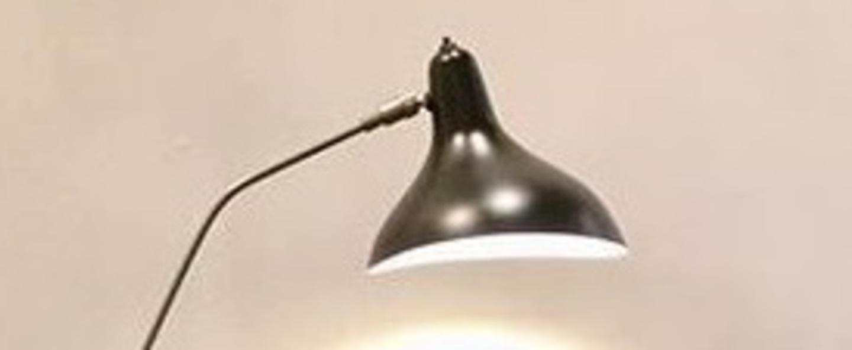 Lampe a poser mantis bs3 gris vert o20cm h52cm dcw editions normal