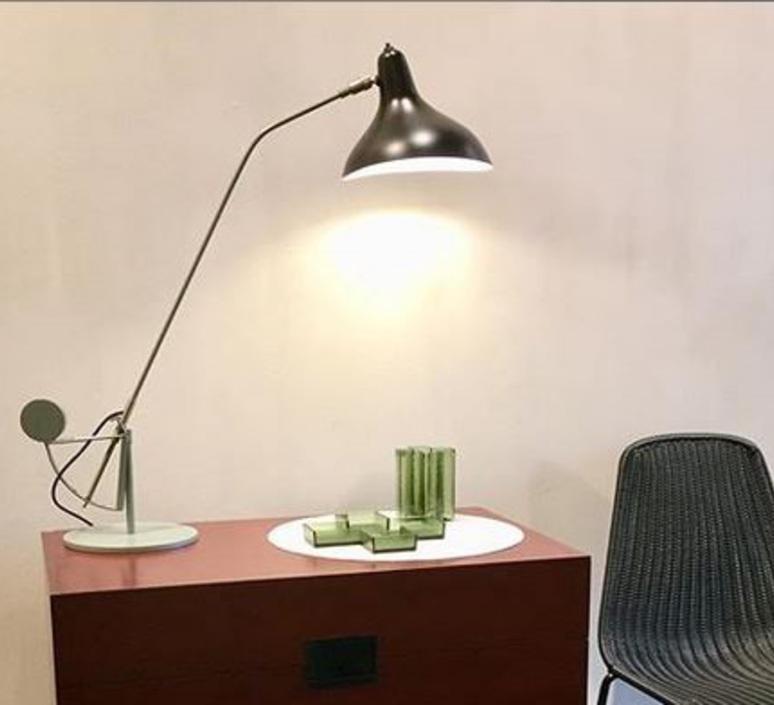 Mantis bs3 bernard schottlander  lampe a poser table lamp  dcw editions bs3 gr bl  design signed nedgis 65433 product