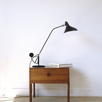 Lampe a poser mantis bs3 noir o20cm h52cm dcw editions normal