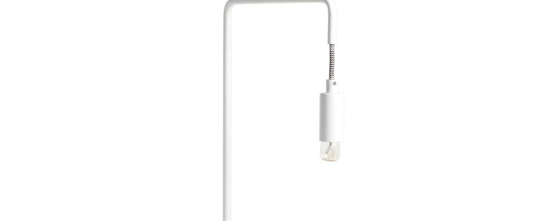 Lampe a poser mariette blanc o23cm h40cm harto normal