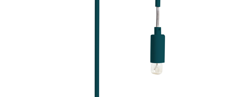 Lampe a poser mariette bleu petrole o23cm h40cm harto normal