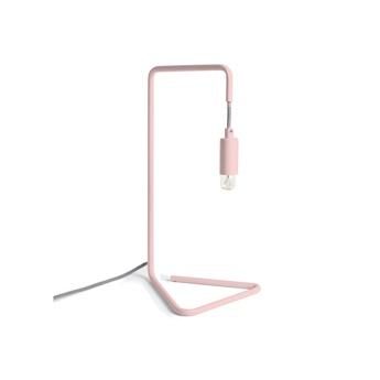Lampe a poser mariette rose o23cm h40cm harto normal