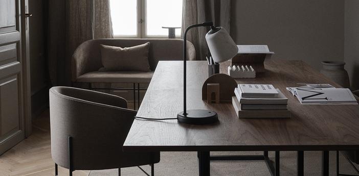 Lampe a poser material marbre blanc l19cm h45cm new works normal