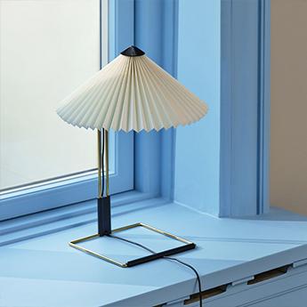 Lampe a poser matin 300 blanc led 2800k 150lm o30cm h38cm hay normal