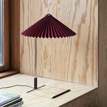 Lampe a poser matin 300 rouge oxyde led 2800k 150lm o30cm h38cm hay normal