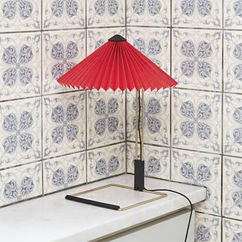 Lampe a poser matin 300 rouge vif led 2800k 150lm o30cm h38cm hay normal