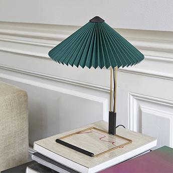 Lampe a poser matin 300 vert led 2800k 150lm o30cm h38cm hay normal