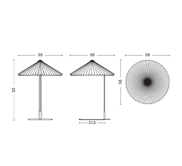 Matin 380 inga sempe lampe a poser table lamp  hay 4191234009000  design signed nedgis 105127 product