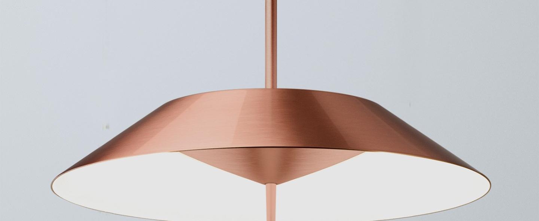 Lampe a poser mayfair cuivre 0led 2700k 1841lm o30cm h52cm vibia normal